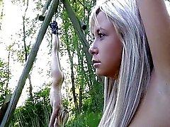 blonde blowjob bondage caucasian