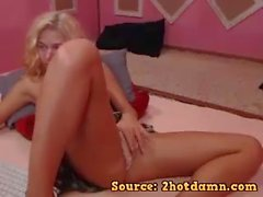 homemade strip teasing blonde teen