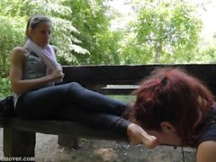 girl-on-girl kink teenager young outdoor