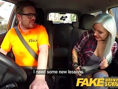 Fake Driving School Busty goth learner in anal