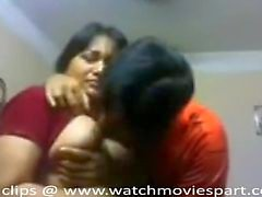 couple black-haired big tits indian kissing