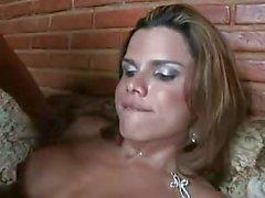 shemale fucks guy stockings condom sex big boobs oral sex