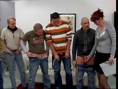 blowjobs facials gangbang group sex