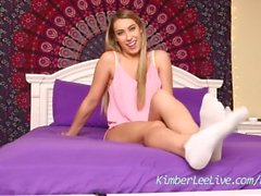 kimber lee kimberleelive teasing teenager young feet foot fetish teen feet tease