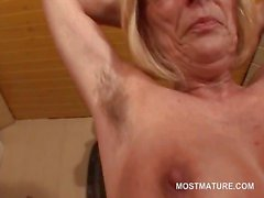 blonde granny masturbation mature milf