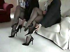 british femdom foot fetish nylon stockings