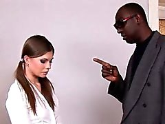 babe brunette interracial spanking