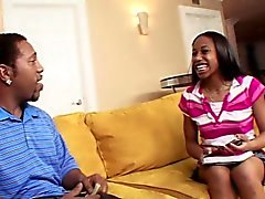 RealBlackExposed Sweet black teen meets monster dick