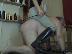 bdsm dad face sitting whipping old fat man