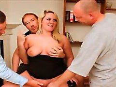 bbw blonde blowjob bukkake fat