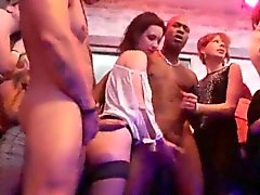 Horny girls get totally wild and stripped at hardcore party