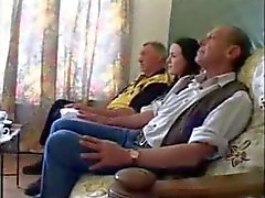 3some old-man brunette