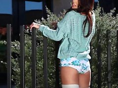 babe brunette outdoor softcore solo