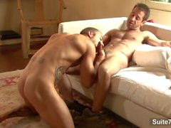 Sexual gay Rod Daily gives blowjob and gets ass fucked by amazing gay Sean