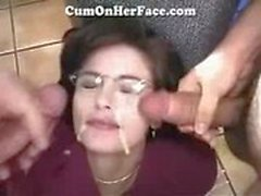 milf facial cum group