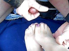 sborrate feticismo del piede masturbazione calze