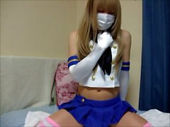 JCD cosplay Kantai Collection SHIMAKAZE-1 playing Dildo