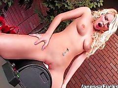 vanessa cage blonde caucasian masturbation shaved