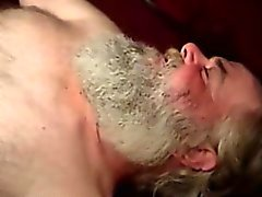 Hairy mature bear sucking cock