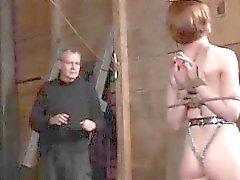 bdsm fetish redhead spanking