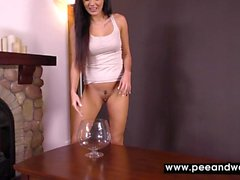 solo girl peeing squirting