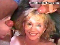bukkake cohf cum-on-her-face facial