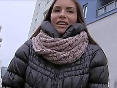 amateur blowjob brunette outdoor
