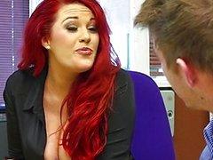 couple vaginal sex oral sex redhead