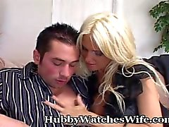hubbywatcheswife female-friendly big-boobs busty