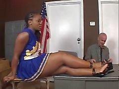 svart kön ebenholts cheerleader