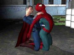 Superman Fucks Spiderman
