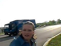 amateur brunette hardcore outdoor