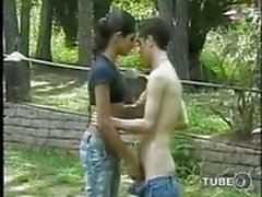 outdoor tranny anal blowjob guy fucks shemale