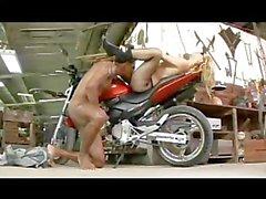 grazi fantini blonde bike motorcycle