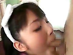 asiático mamada facial