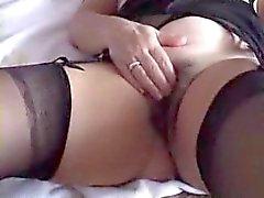 peludo masturbação