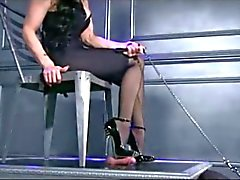 bdsm femdom foot fetish nylon stockings