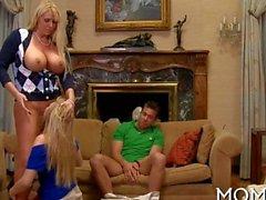big cock mature milf threesome wife