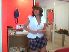amateur brunette solo striptease webcam