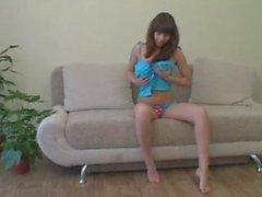 alina big tits strip
