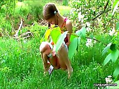 cucumber fetish outdoor pigtail pissing