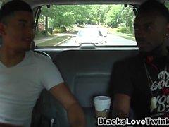 gay amateur cumshot interracial black