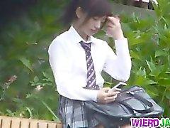 asian babe blowjob brunette gangbang