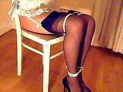 solo girl bondage stockings fetish