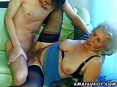 Old amateur mature wife sucks and fucks