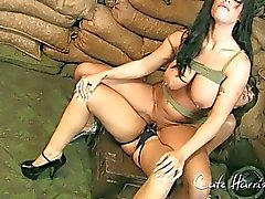 big tits lesbian military strapon