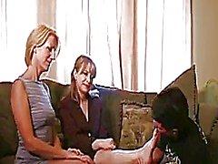 femdom handjob milf old young