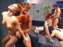anal group sex hairy redheads stockings