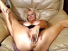 Eros & Music - Granny Blonde Masturbating