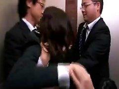 asian babe blowjob facial group sex
